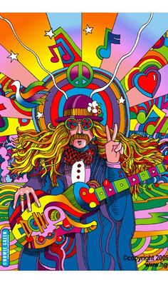 music, hippi peac, colors, hippi art, peac man, howi green, peac art, hippie art, rainbow
