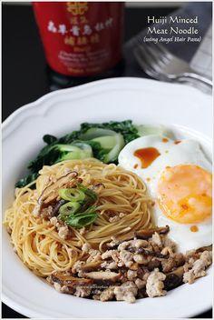 """Huiji Minced Meat Noodles (Bak Chor Mee (肉脞面)"""" a popular Singapore noodle dish)"""