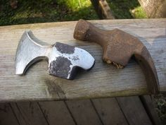 Island Blacksmith: Hand forged reclaimed axes made from antique tools