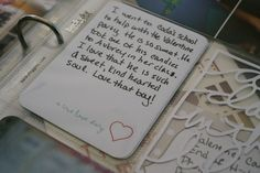 Journal Idea - Document First Loves | Project Life Inspiration | Week 7 #projectlife #journalidea