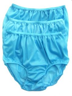 CLICK IMAGE TWICE FOR PRICING AND INFO :) #women #panties #lingerie #briefpanties #intimates #undergarment see more granny panties at http://zpanties.com/category/panties-categories/granny-panties/ - Lot 3 Piece Wholesale Granny Briefs Panties 100 % Nylon Knickers Lingerie Fair Blue Size 2xl « Z Panties