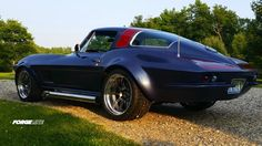 Jill Oberle will soon be competing against her husband, Aaron, and his '65 Chevelle with this '66 Corvette Stingray Coupe, complete with 1970s-era fender flares & paint job and 18-inch Forgeline GZ3R wheels finished with Gunmetal centers, Polished outers, and the optional bolt-on Competition Center Cap. See more at: http://www.forgeline.com/customer_gallery_view.php?cvk=1176  #Forgeline #GZ3R #notjustanotherprettywheel #madeinUSA #Chevy #Corvette #Stingray #spouseenvy