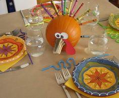 Pumpkin turkey centerpiece ideas