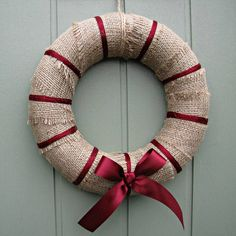 Handmade hessian christmas wreath