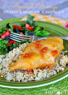 Apricot-Orange #SlowCooker Chicken | MomOnTimeout.com #CrockPot