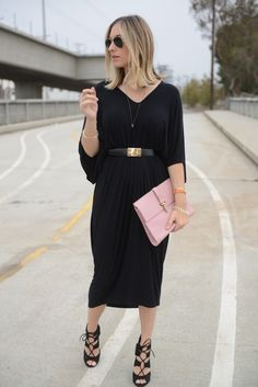 Black Caftan that I want to wear all the time, with those shoes. #comfy #chic