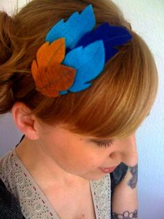 Felt Feather Headband