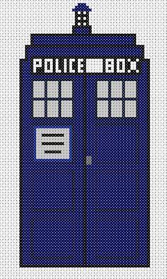 TARDIS geek stitch.