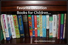 Favorite Devotion Books for Children @thebettermom