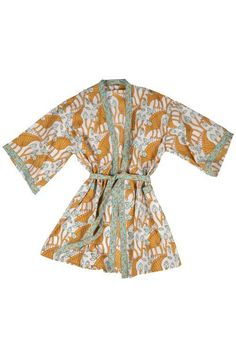 When it's time to take it easy, grab your soft cotton, block print Rest & Relaxation Robe! This ethically made robe is handcrafted by makers working with our fair trade partner Aravali.