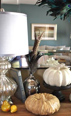 Silver vase from #Goodwill. $1 on Dollar Day.  #Thrift #decor #fall