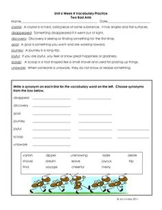 This file contains vocabulary practice and assessment activities for each of the main selections in Unit 5 of the new third grade Reading Street se...