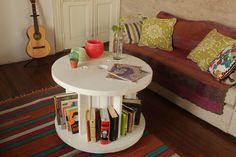 Mesa ratona biblioteca blanca for Deco para el hogar