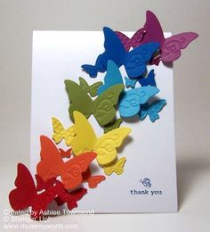 Butterfly Embosslet mirror, gift boxes, butterfli card, card butterfli, butterflies, butterfli rainbow, color, art, blog