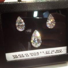 10, 11 & 20+ Caraters  Pearshape Cut #Diamond #diamonds #JCK #Jewelry Market Week #OKC #Jeweler