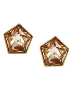 Vince Camuto Earrings, Champagne Glass Pentagonal Stud Earrings