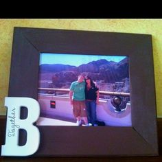DIY picture frame... All supplies from Hobby Lobby.