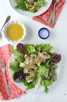 Fresh, fast and flavorful:  Tarragon Pesto Chicken Breast with dressed greens from Boulder Locavore; sounds amazing!