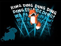 """What is your sound? - Ylvis """"The Fox"""" T-shirt"""