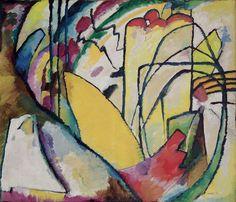 Wassily #Kandinsky - #Improvisation 10, 1910, oil on canvas, 120 x 140 cm