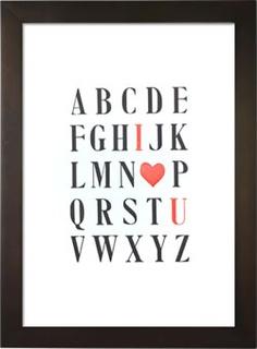 Cool Valentine Letterpress Poster