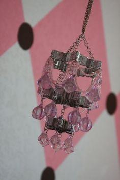 super cute Homemade chandelier