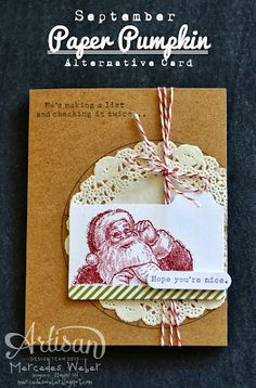 Creations by Mercedes: September Paper Pumpkin Kit - modified card