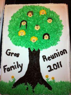 famili reunion, reunion cakes, family reunions, reunion idea, famili histori