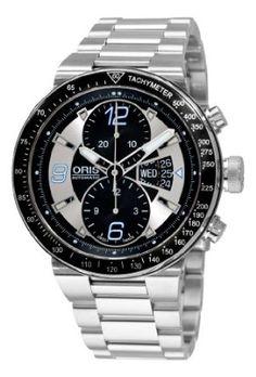 Oris Men's 67976144174MB Williams F1 Team Black and Grey Chronograph Dial Watch