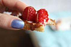 Raspberry Nutella Bruschetta ....better than the best. Mmmmm via @fieldsofcake
