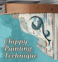 DIY Aged Chippy Paint Technique