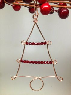 SoftFlexGirl: Four DIY Christmas Tree Wire Ornaments Made on a WigJig
