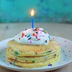 Funfetti birthday pancakes by kitchentreaty