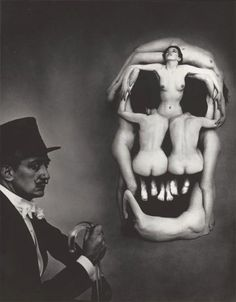 Salvador Dali, In Voluptate Mors - photograph by Phillippe Halsman