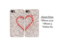 His and Hers iPhone 4/ iPhone 5/ Galaxy S3 phone case Love Wedding Gift Couples Phone Cases