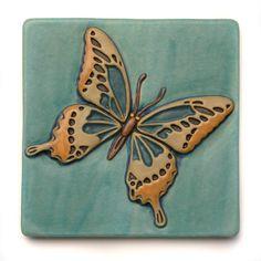 Large Butterfly 8x8 Tile by Gretchen Kramp, $76