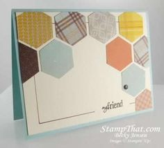 Stampin' Up! Hexagon Punch & Sweater Weather DSP