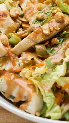 Dinner: Grilled Chicken Thai Salad