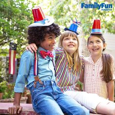 Hats Off to America: Set up a crafting station where kids can turn plastic cups into custom caps, and creative sparks are sure to fly.