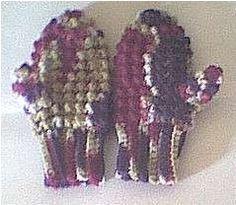 Children's Crocheted Mittens