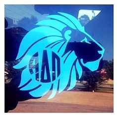 Alpha Delta Pi lion decal by GREEKISME on Etsy