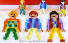 Playmobil hama perler beads by Rachel - Mes Petits Bonheurs