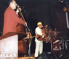 August, 2002: Charlie backed by the GoodFellas rocks them in Senigallia, Italy—near Ancona.