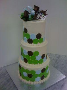 Modern Baby Shower Cake