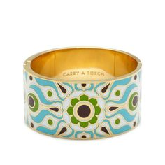 kate spade | carry a torch hinged bangle