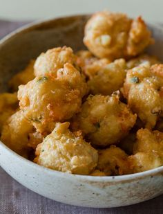 Shrimp Fritters with Spicy Honey Drizzle