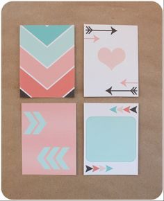 Free journaling cards by clear colours