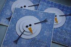 circle snowman .... Christmas cards this year?? I say yes!