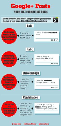 Google Plus Formatting Guide #google #google+
