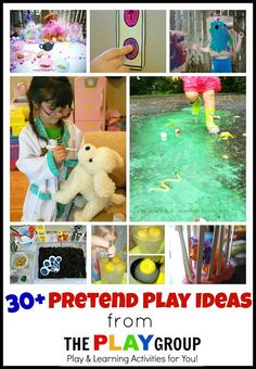 Mess For Less: 30+ Pretend Play Ideas.  We always struggle with finding new pretend play ideas; this list is perfect!